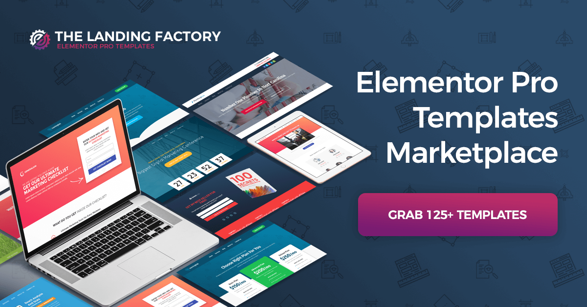 Elementor Templates Marketplace - The Landing Factory