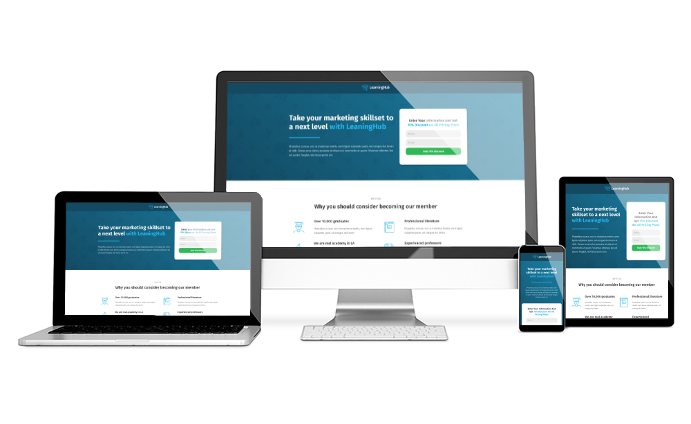 free opt in form templates - learning hub opt in page the landing factory